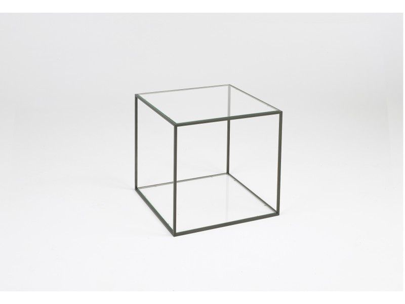 table d'appoint contemporaine / en verre / rectangulaire - karusa