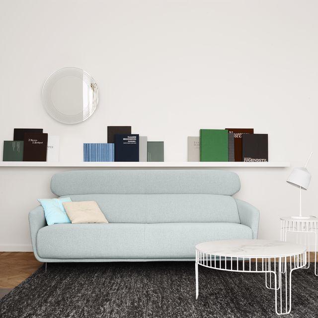 Canapé contemporain / en tissu / en cuir / par Éric Jourdan - OKURA ...