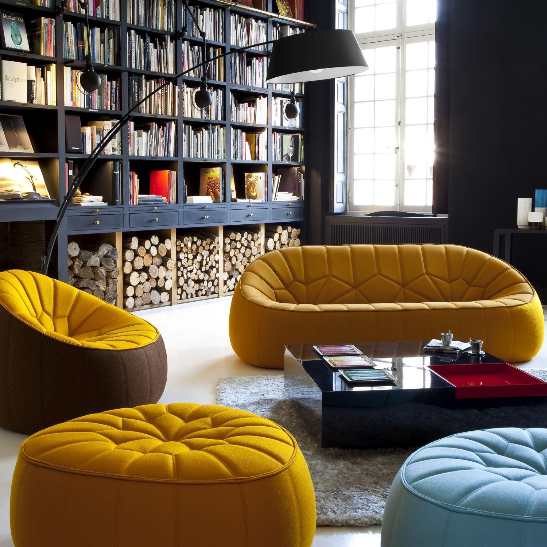 Canapé contemporain / en tissu / par Noé Duchaufour Lawrance / 2 ...