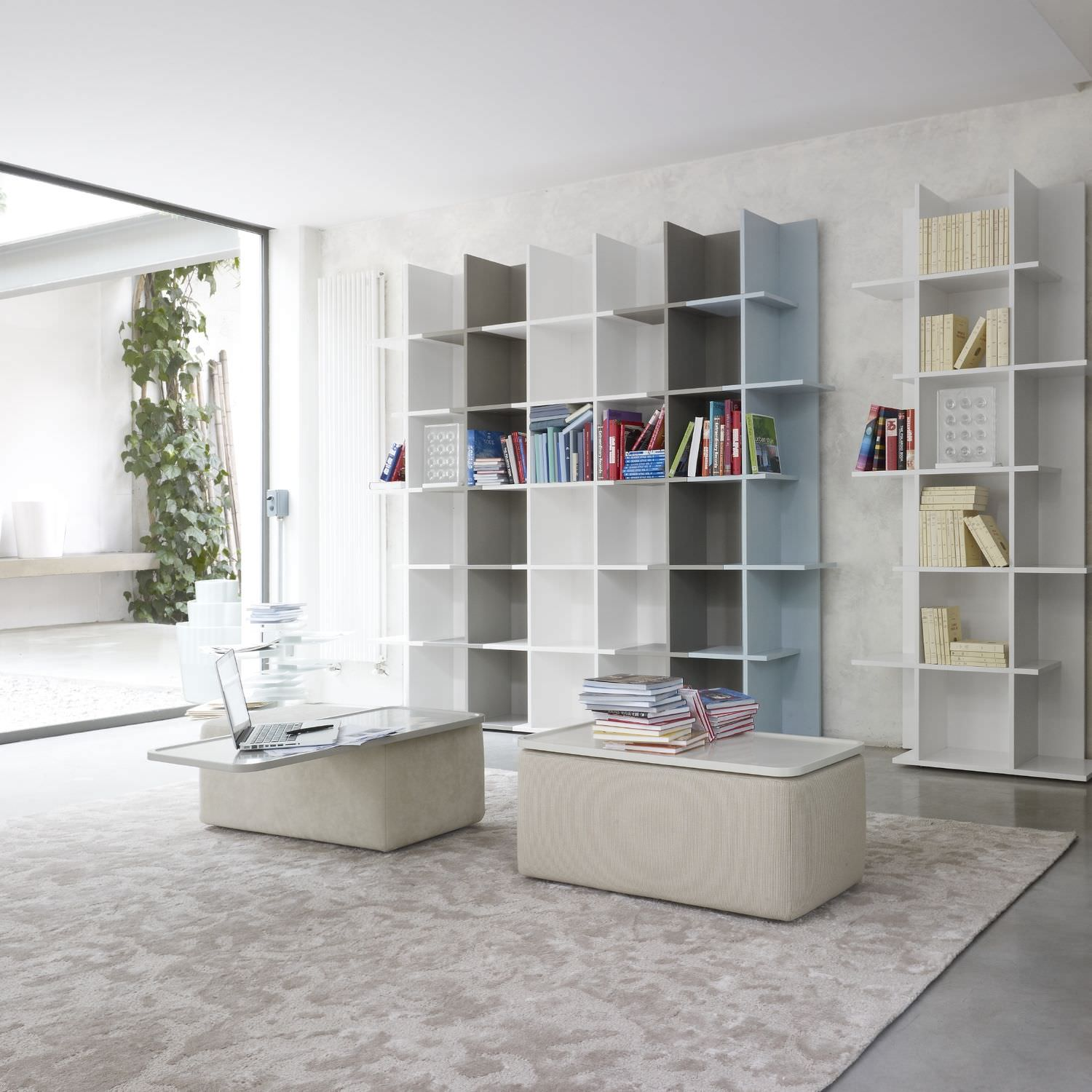 Biblioth Que Modulable Contemporaine En Bois Laqu Oka By  # Bibliotheque Meuble Tv Contemporain