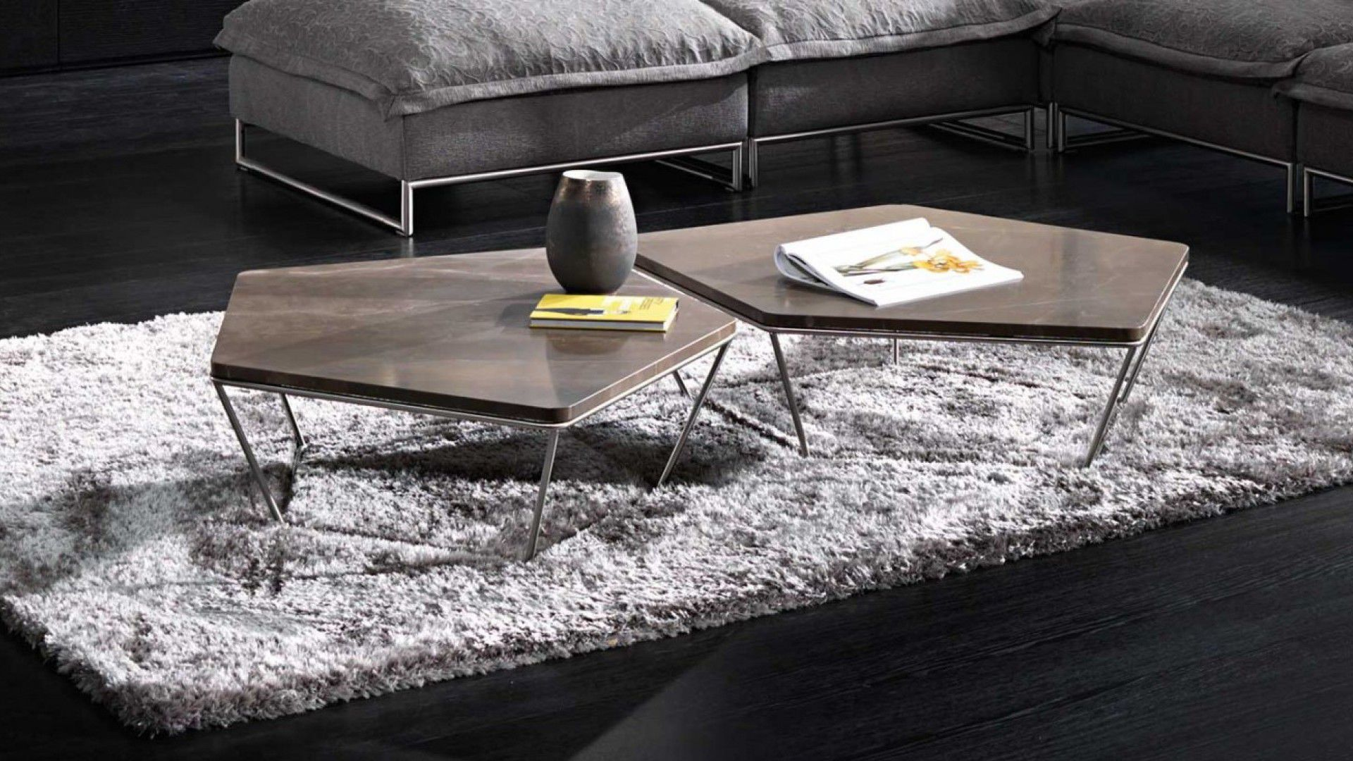 Table basse contemporaine / en bois / en acier / en marbre ...
