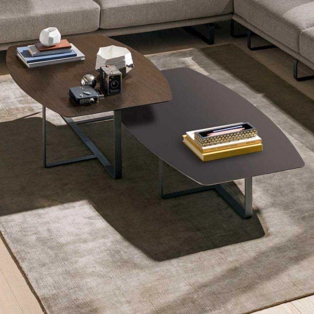 Table basse contemporaine / en métal / en marbre / en chêne - TEMPO ...