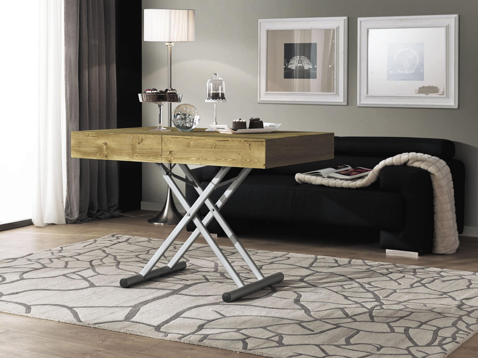 table reglable en hauteur bois