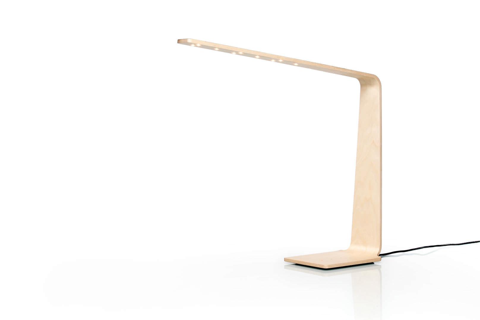 Lampe de bureau contemporaine en bois à led led tunto