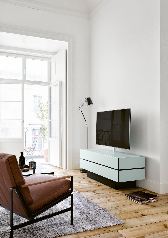 Meuble De T L Vision Contemporain Avec Enceinte Int Gr E En  # Meuble Tv Avec Enceinte Integre