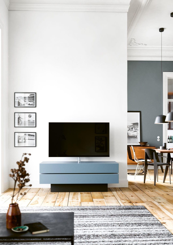 Meuble De T L Vision Contemporain Avec Enceinte Int Gr E En  # Meuble Tv Avec Enceintes