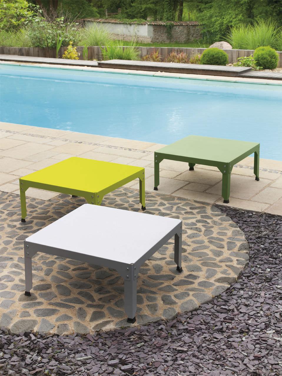 Table basse design industriel / en acier thermolaqué / en acier ...