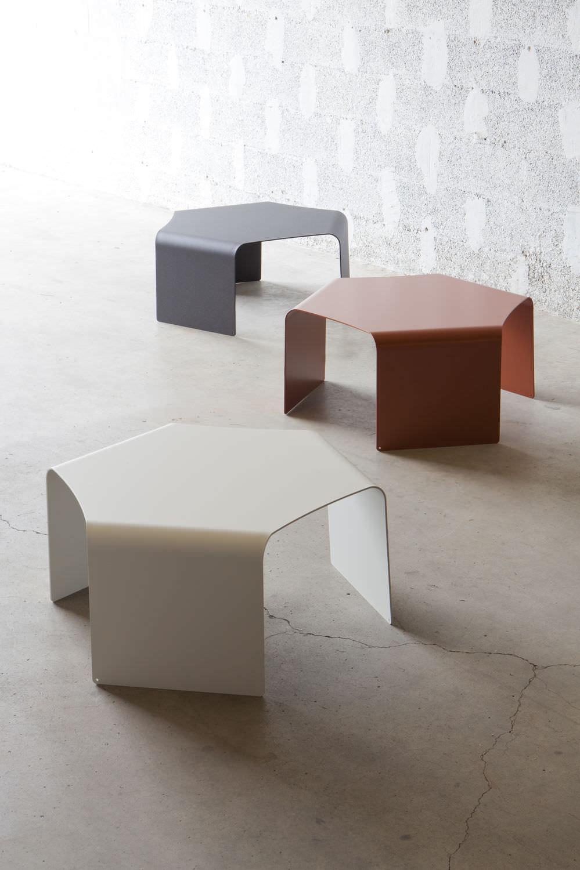 Table Basse Contemporaine En Aluminium Hexagonale De Jardin  # Table De Jardin Hexagonale