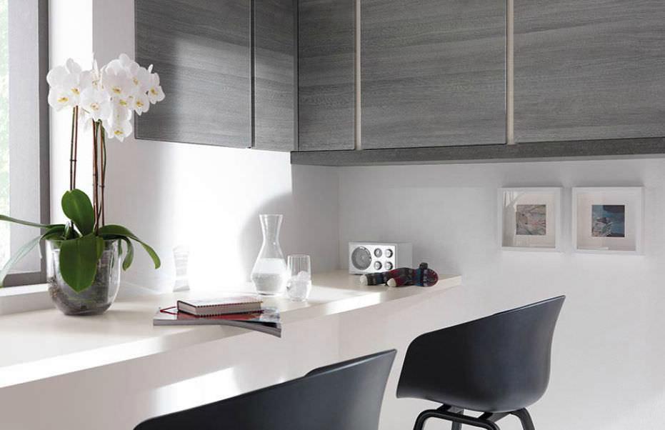 Cuisine contemporaine / en plaqué bois / laquée - 651 NEO - Wellmann