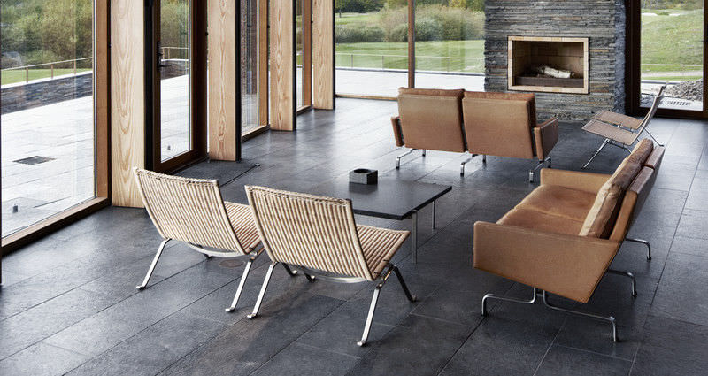 Canapé Design Scandinave En Cuir En Acier Places PK By - Fauteuil cuir design scandinave