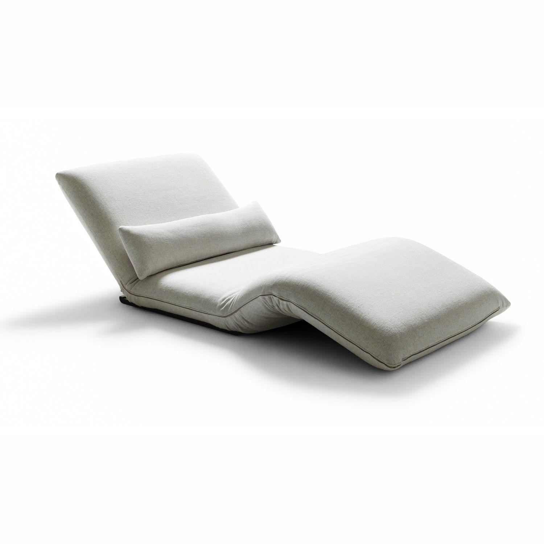 Chaise Longue Contemporaine En Tissu Pliante Double