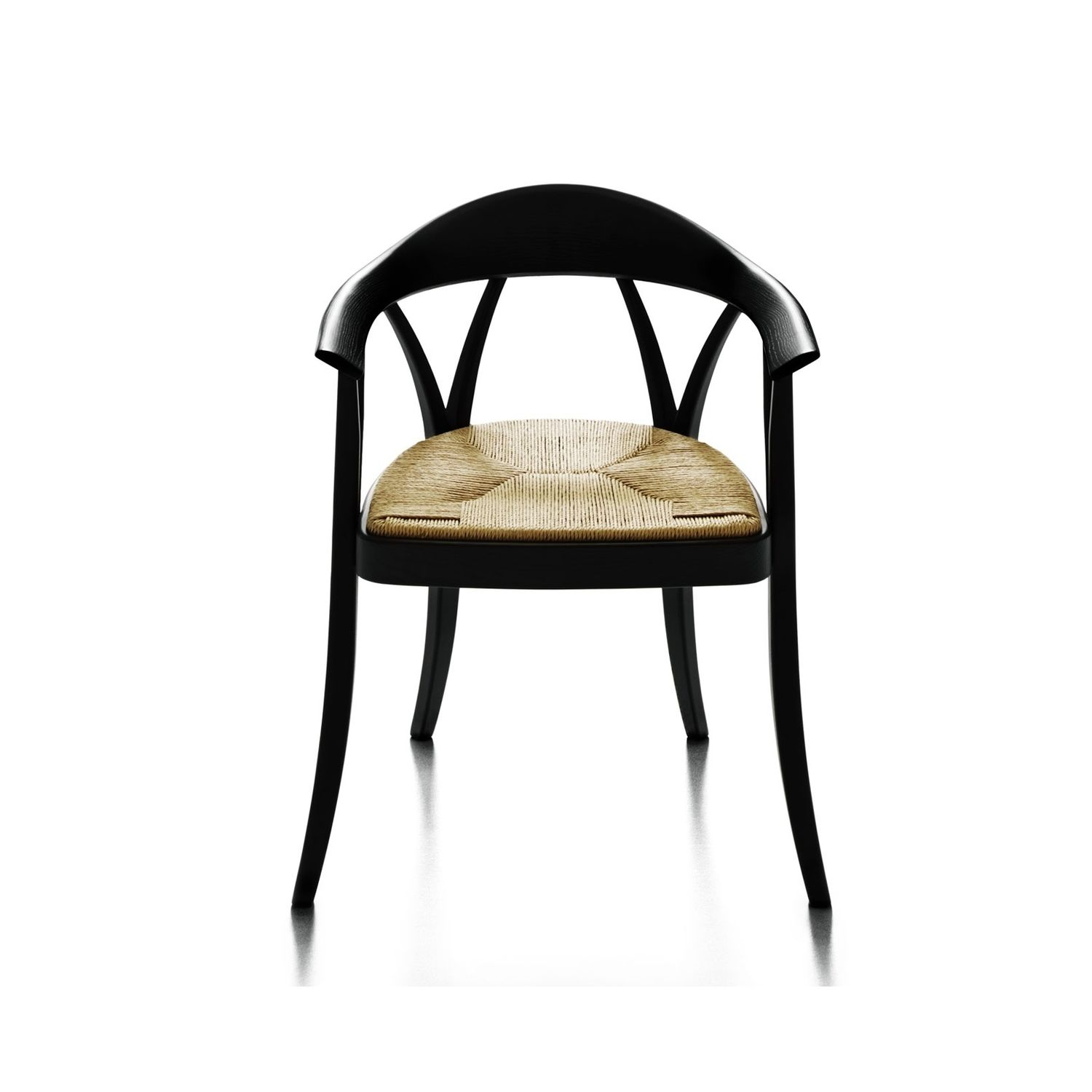 Paille Gsvzmpqu Accoudoirs Avec Chaise Bois En Contemporaine N8wm0nv