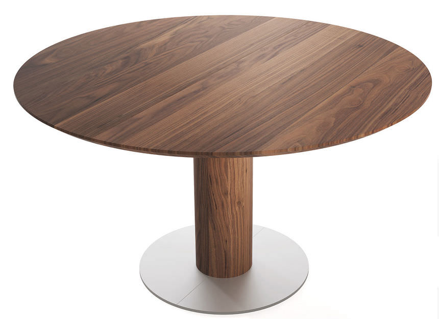Charmant Table Contemporaine / En Bois / Ronde / à Rallonge   MODENA