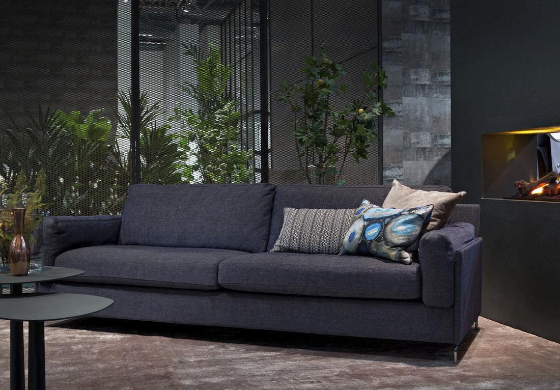 Canapé Contemporain En Cuir En Tissu Places ARIES - Canapé tissu contemporain