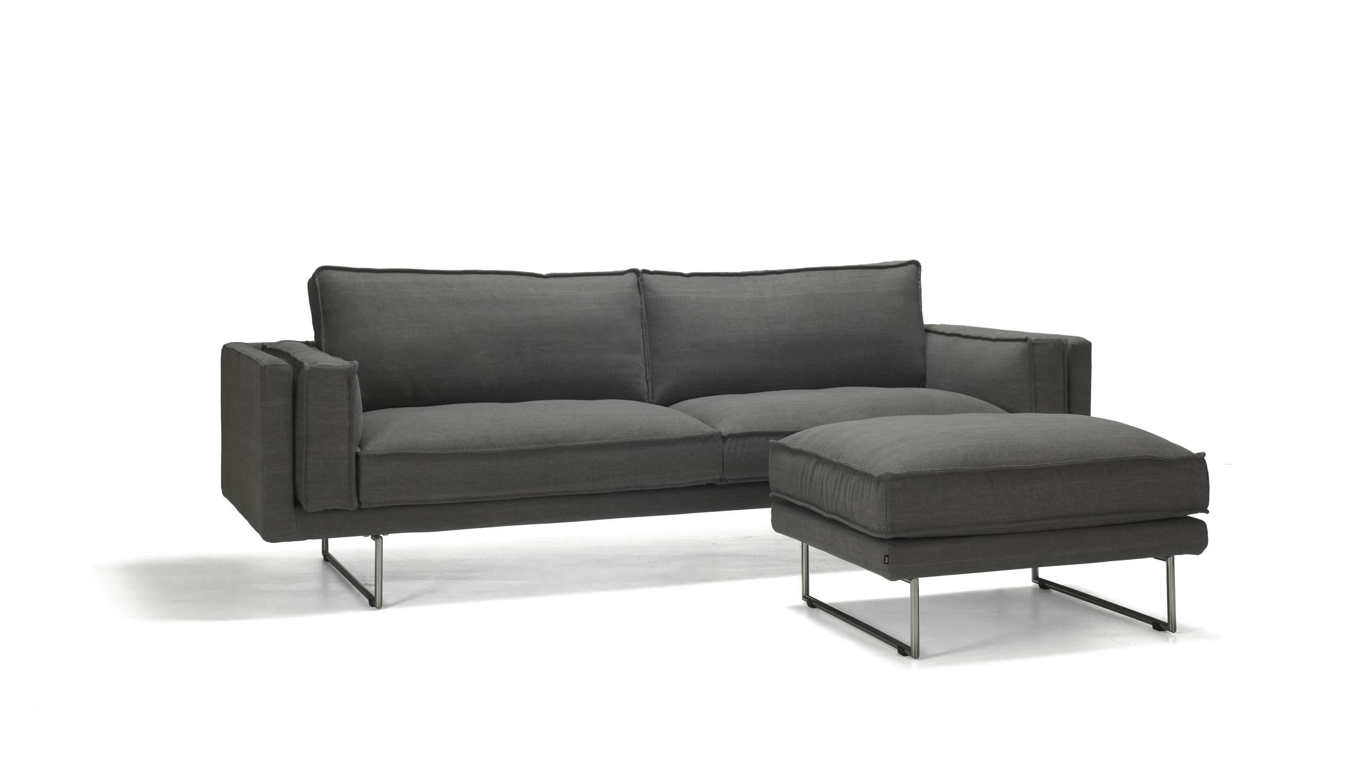 Canapé contemporain / en tissu / 3 places / avec repose-pieds ...