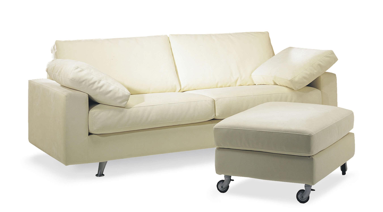 Canapé contemporain / en tissu / 2 places / avec repose-pieds ...