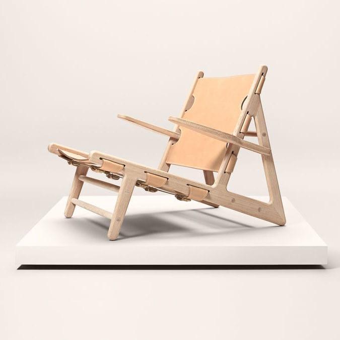 Chaise Chêne Design Cuir Longue Scandinave Bois En 8wOknP0