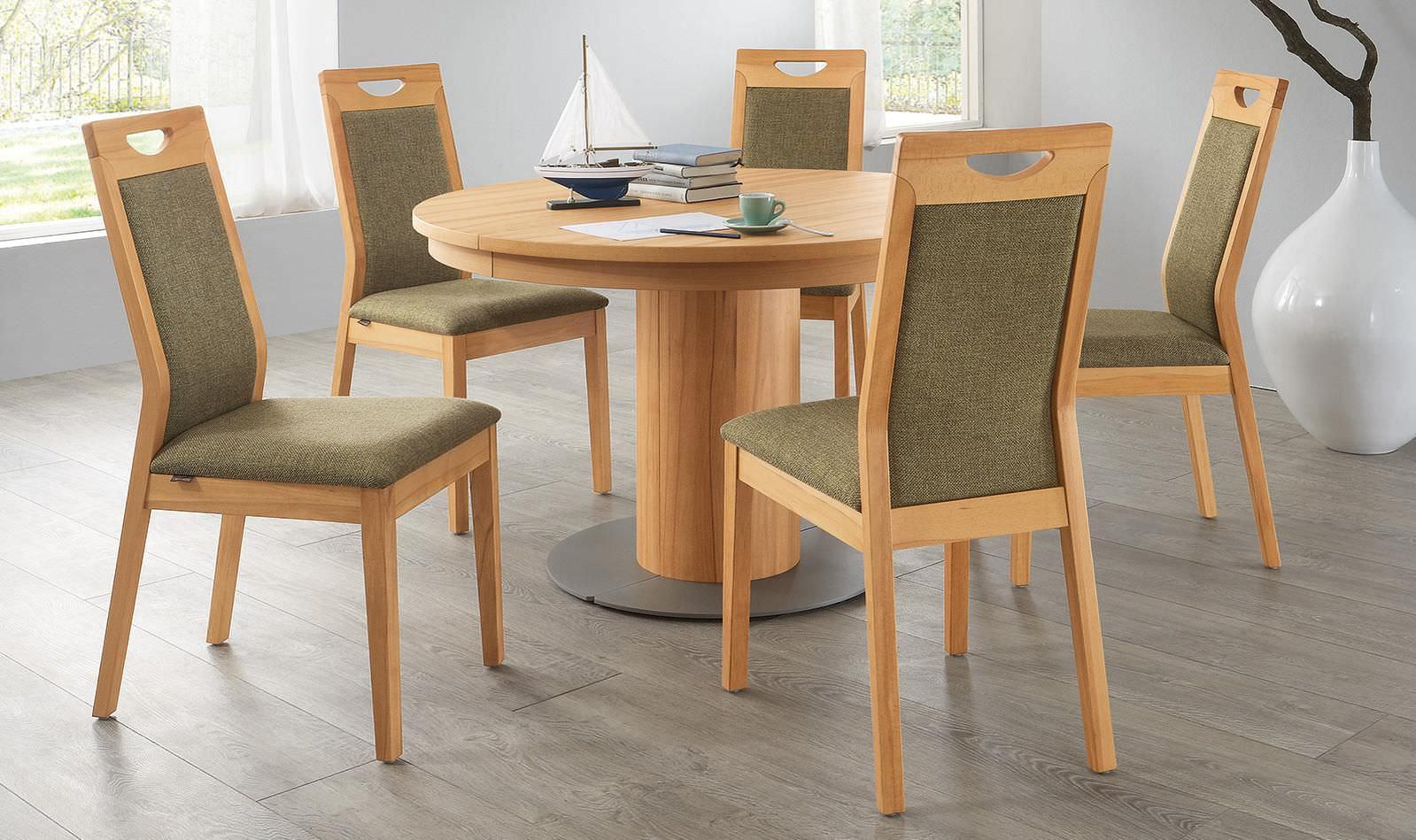table à manger contemporaine / en bois / ronde - et558 - alfons