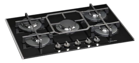 Table de cuisson à gaz / vitrocéramique - TV 750 (BK) GH - Scholtès