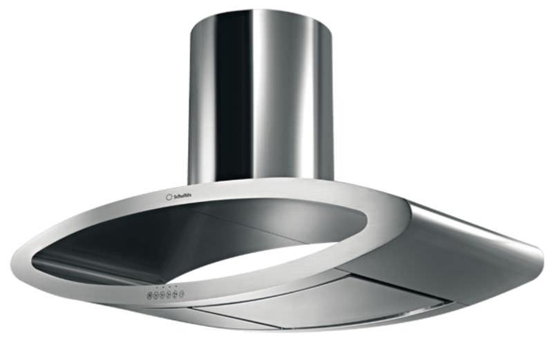 hotte de cuisine îlot / design original / avec éclairage intégré