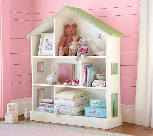 biblioth que contemporaine en bois pour enfant pour fille dollhouse pottery barn kids. Black Bedroom Furniture Sets. Home Design Ideas