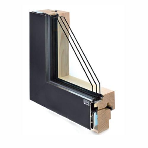 Fenêtre à Guillotine En Bois En Aluminium à Triple Vitrage