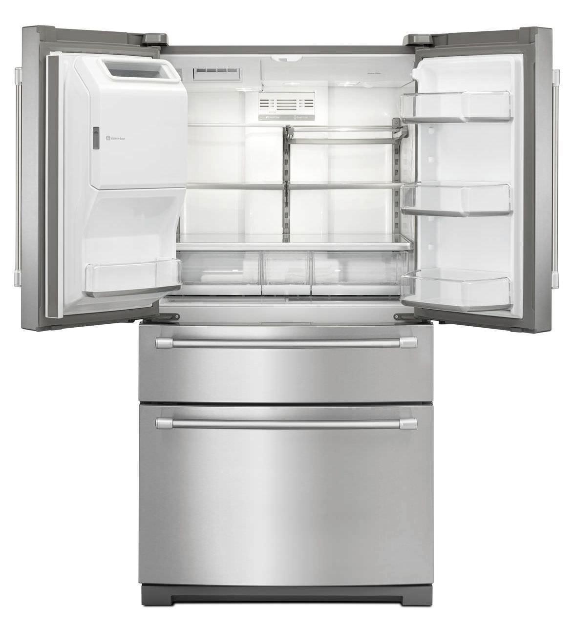 Réfrigérateur Congélateur Résidentiel Américain En Inox Avec - Frigo americain 1 porte distributeur de glacons