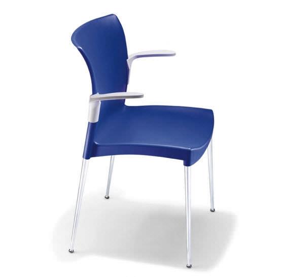Avec Chaise Plastique Accoudoirs Contemporaine En Empilable xdBeCro