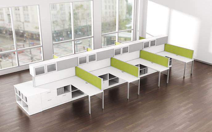 Bureau pour open space en stratifié contemporain