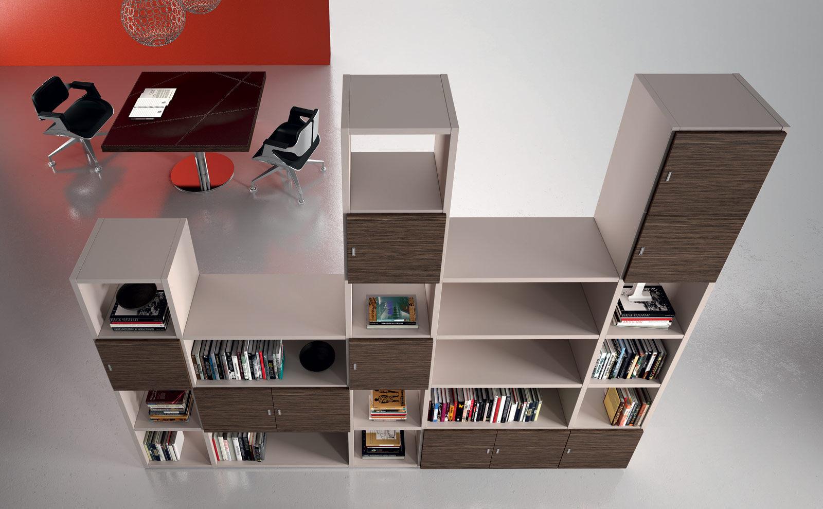 Bibliothèque modulable contemporaine professionnelle pour