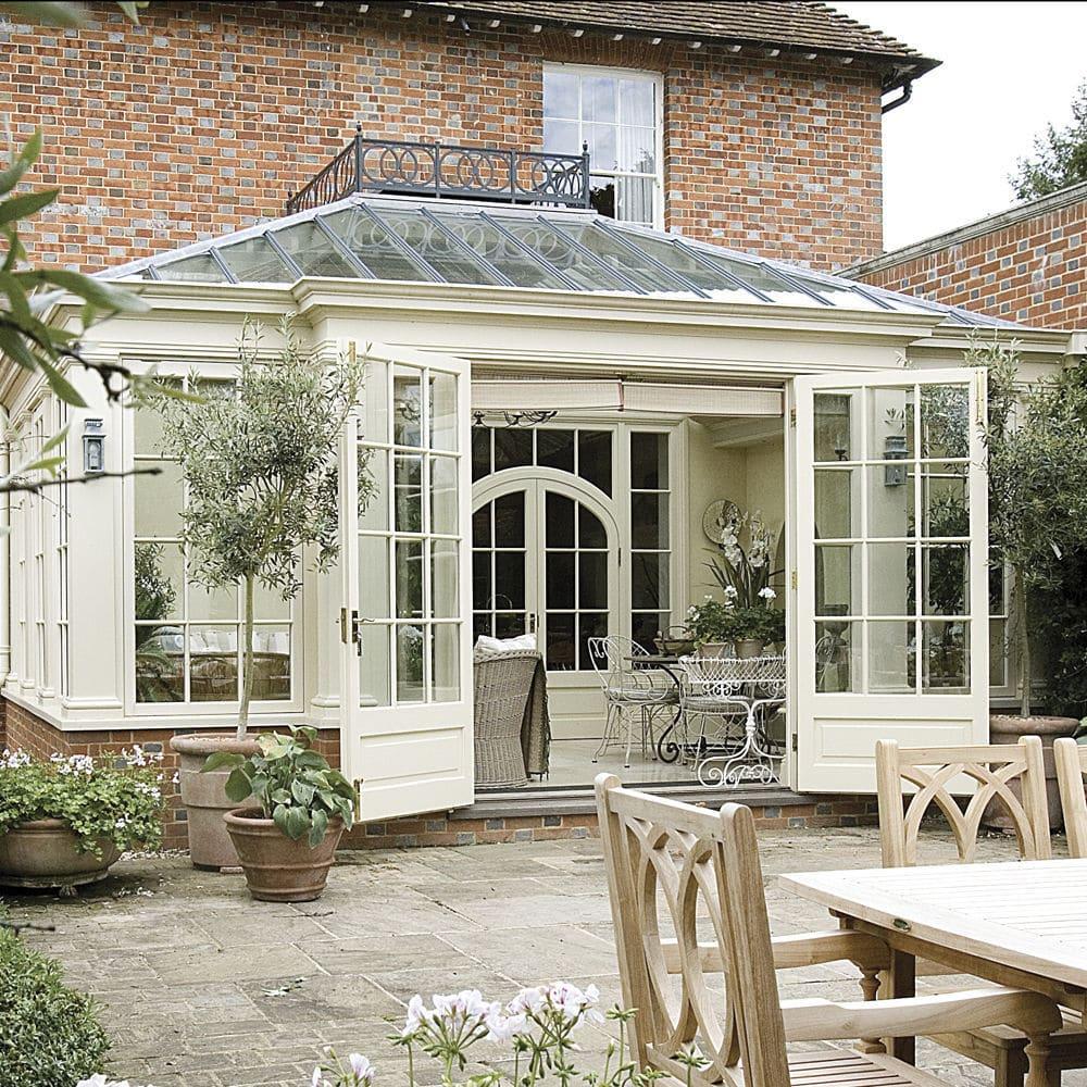 Exceptionnel Véranda en verre / en bois - GEORGIAN - Vale Garden Houses EY16