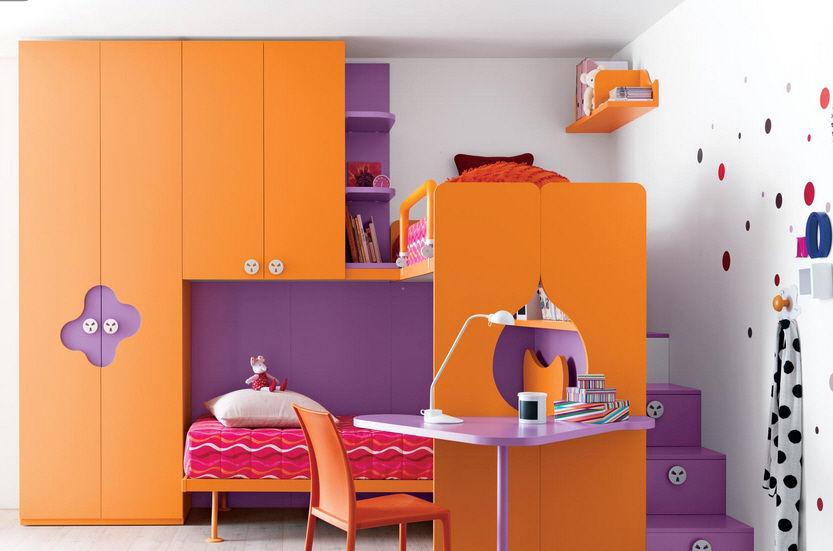Beautiful Chambre Garcon Orange Et Vert Idees - Idées décoration ...
