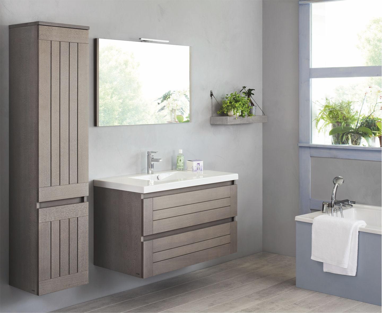salle de bain meuble suspendu - Salle De Bain Contemporaine Bois