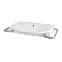 Vasque suspendue / en céramique / contemporaine / pour personnes à mobilité réduite