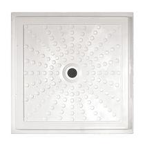 Receveur de douche carré / en fibre de verre / extra plat / à fleur de sol