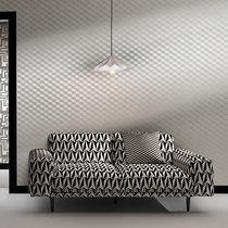 Tissu d'ameublement / à motif géométrique / en polyester / en viscose
