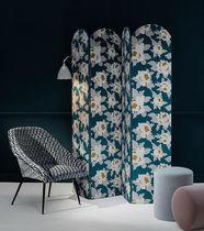 Tissu d'ameublement / à fleurs / en polyester / en coton
