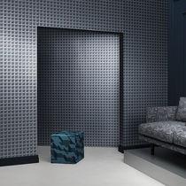 Tissu d'ameublement / pour rideaux / à motif géométrique / en lin