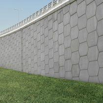 Mur de soutènement en béton / modulaire / préfabriqué