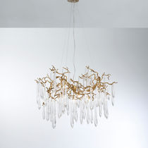 Lampe suspension / contemporaine / en métal / en verre