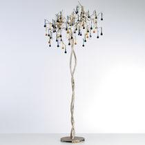 Lampe sur pied / classique / en verre / en bronze