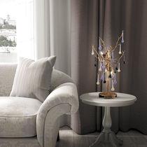 Lampe de table / classique / en verre / en bronze
