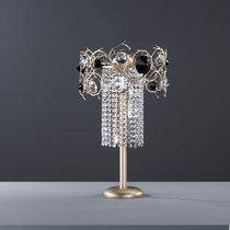 Lampe de table / de style / en métal / en verre