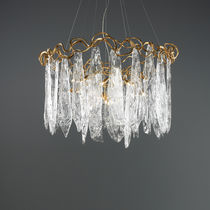 Lampe suspension / classique / en verre / en bronze