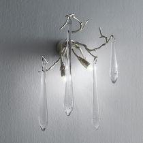 Applique murale classique / en verre / en bronze / halogène