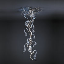 Plafonnier contemporain / en verre / en bronze / à LED