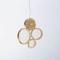 Lampe suspension / contemporaine / en verre / en bronze