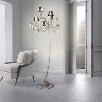 Lampe sur pied / design original / en métal / en verre