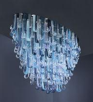 Lustre design original / en verre / à LED / fait main