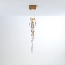 Lampe suspension / contemporaine / en bronze / en verre